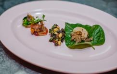 One bite of each Chef, Trang roasted pork theme.